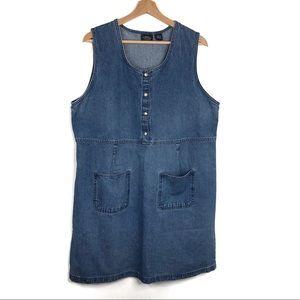 Sonoma Vintage Sleeveless Denim Jumper Dress